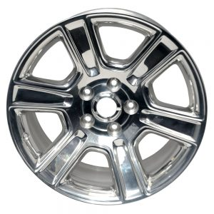 Wheel with bright and polished chrome-look finish